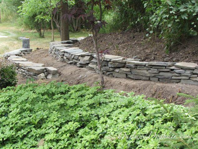 Diy stacked stone garden wall hometalk diy stacked stone garden wall concrete masonry landscape outdoor living workwithnaturefo