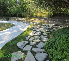 Great Diy Stacked Stone Garden Wall, Concrete Masonry, Landscape, Outdoor Living