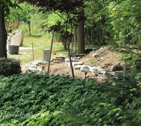 Diy Stacked Stone Garden Wall, Concrete Masonry, Landscape, Outdoor Living
