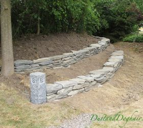 Incroyable Diy Stacked Stone Garden Wall, Concrete Masonry, Landscape, Outdoor Living