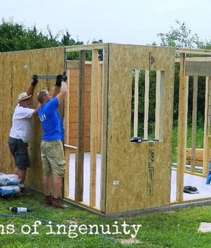 building the garden shed, outdoor living, woodworking projects