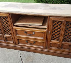 How To Make An Old Dresser Into Media Cabinet Or Buffet, How To, Painted