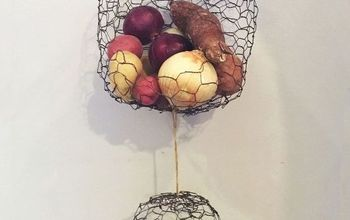 Hanging Chicken Wire Fruit / Produce Baskets