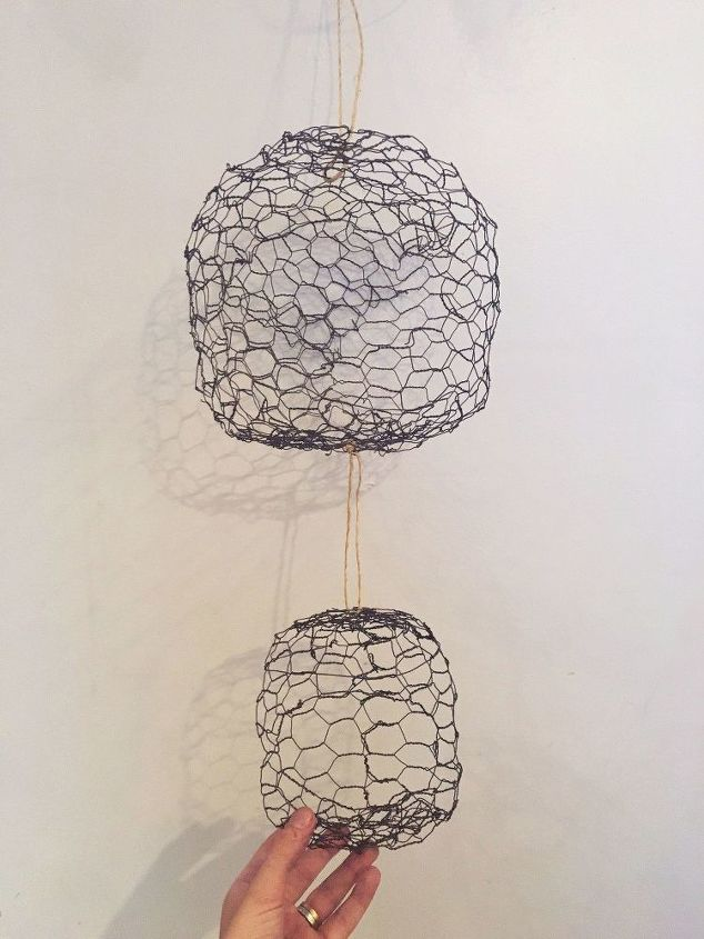 hanging chicken wire fruit produce baskets