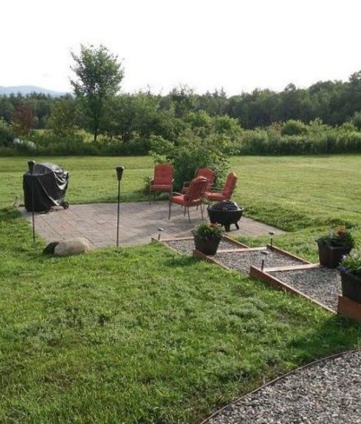 s here s what people are doing with their sloped backyards, gardening, landscape, Build a staircase leading to the patio