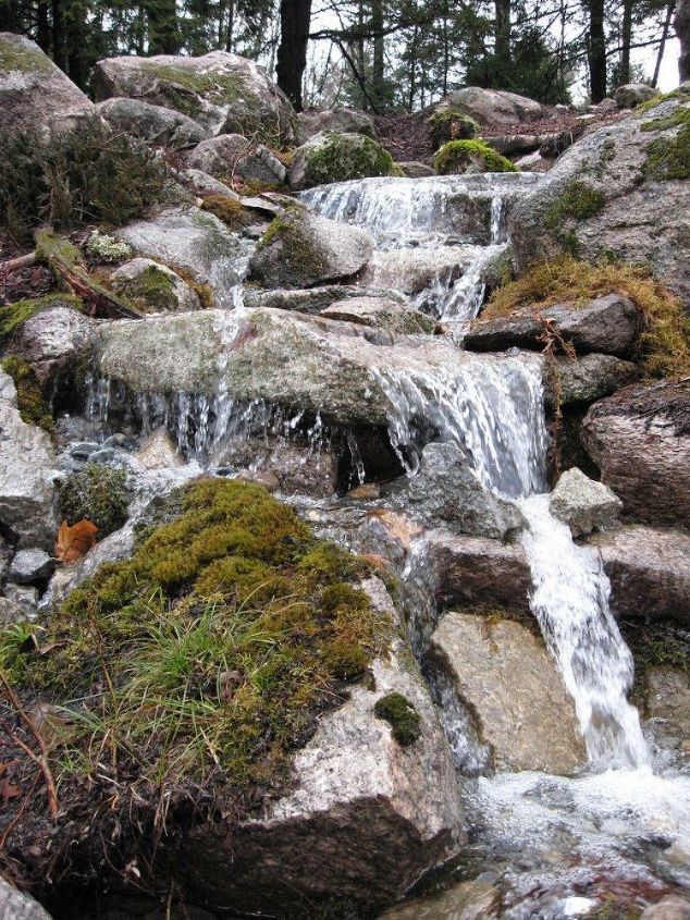 s here s what people are doing with their sloped backyards, gardening, landscape, Make a waterfall