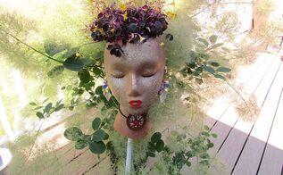 styrofoam garden pot people july challenge, crafts, gardening, July Challenge