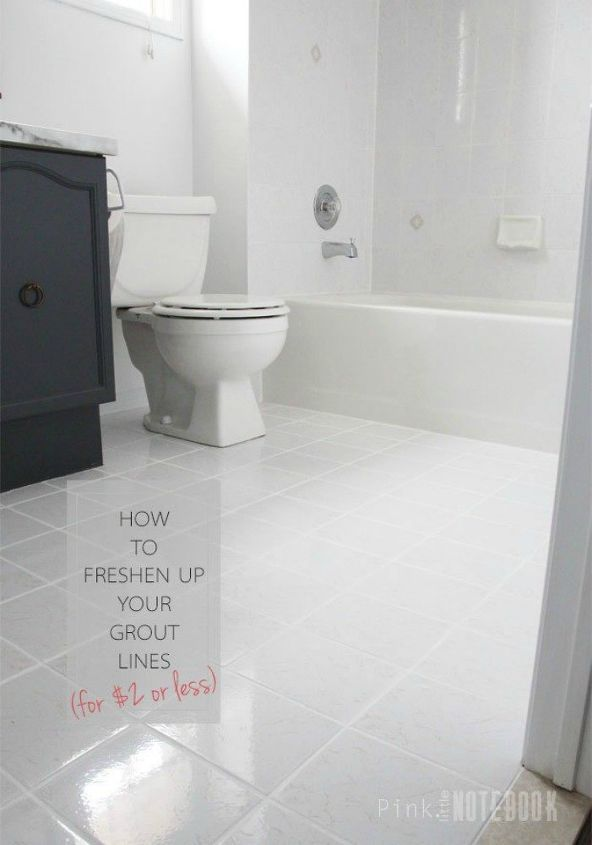 s your quick cleaning plan to get a sparkling home by the weekend, cleaning tips, Paint your grout lines