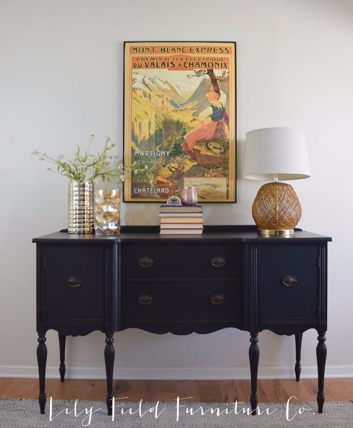 Regal Buffet Makeover Dining Room Ideas Painted Furniture AFTER