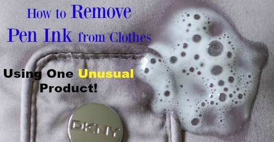 how to remove pen ink from clothes using one unusual product