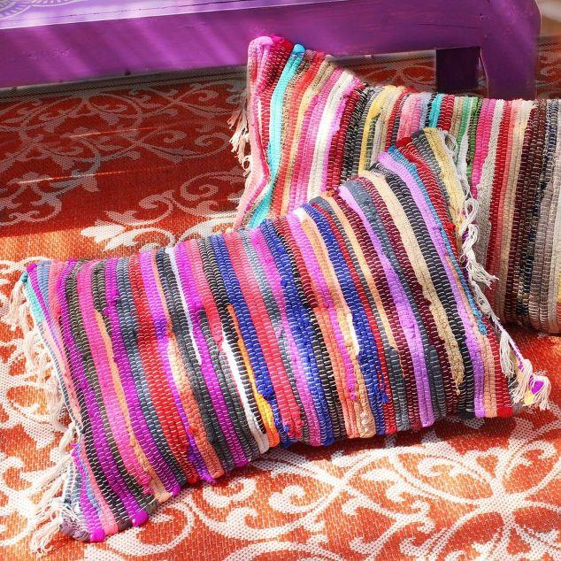 No Sew Rag Rug Pillows Crafts Living Room Ideas Reupholster