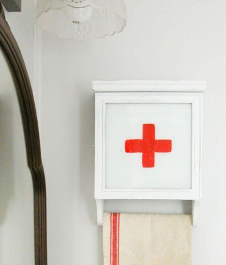 repurposed wall clock into swiss medical kit, organizing, repurposing upcycling, storage ideas