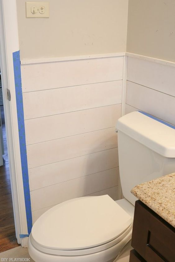 shiplap tutorial for rookies, bathroom ideas, how to, pallet