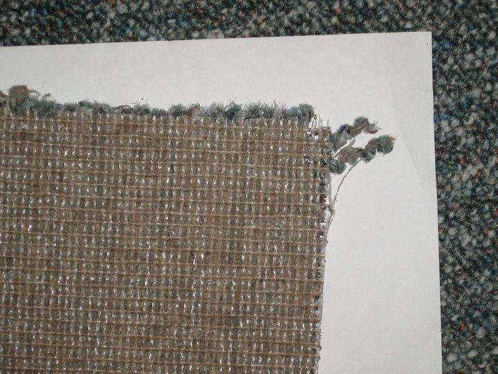 q best way to bind cut carpet edge , reupholster