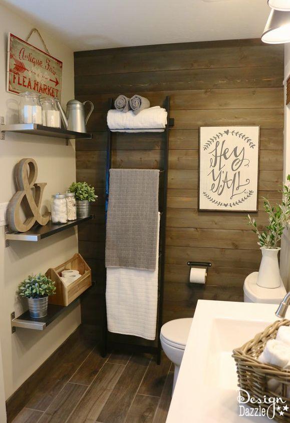farmhouse bathroom using ikea products, bathroom ideas, rustic furniture
