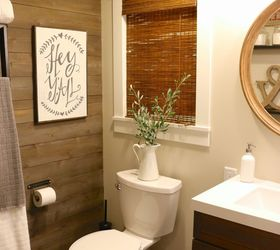 Farmhouse Bathroom Using Ikea Products, Bathroom Ideas, Rustic Furniture
