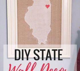 Diy State Wall Decor Hometalkrhhometalk: State Home Decor At Home Improvement Advice