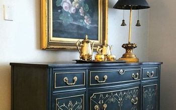 gilded girl, painted furniture