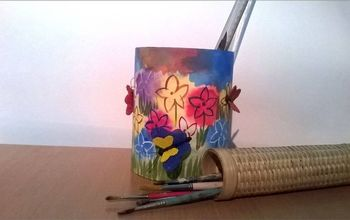 diy how to make a decorated multipurpose table pot from a paper roll, craft rooms, crafts, how to, painting