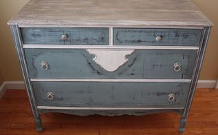 vintage dresser was missing legs, painted furniture