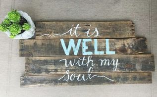 hand lettered pallet sign, crafts, pallet