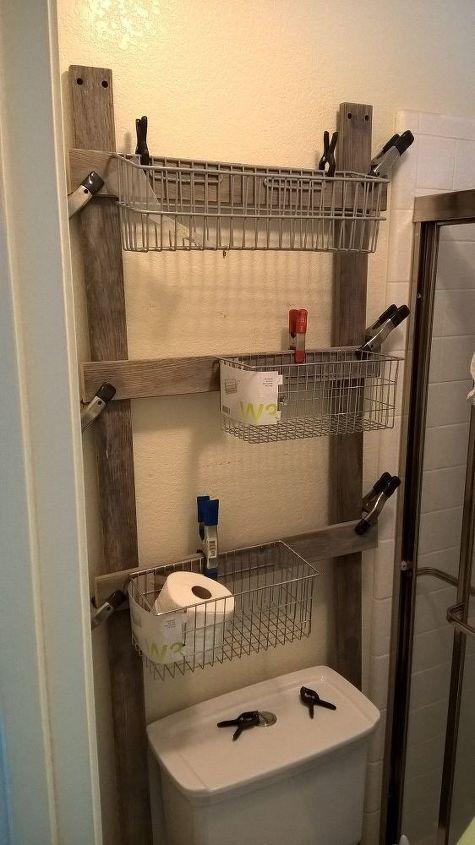reclaimed bathroom caddy, bathroom ideas, organizing, storage ideas