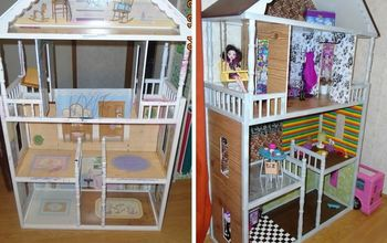 dollhouse remodel, crafts, painted furniture