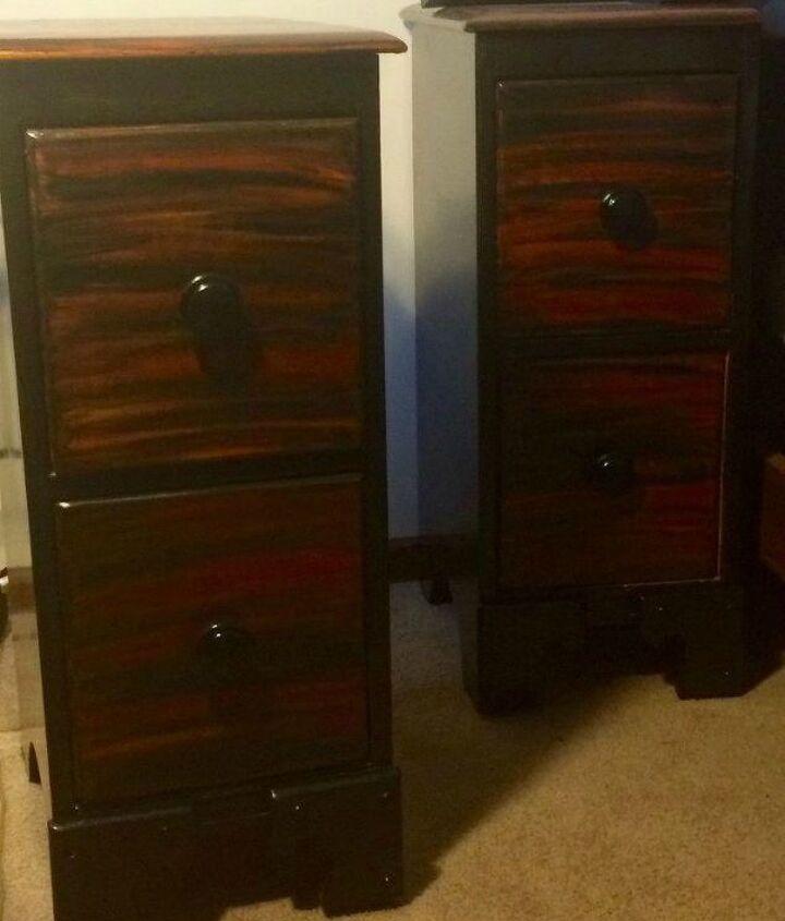 s 15 magical furniture flips using nothing but unicorn spit stain, painted furniture, Transform a desk into gorgeous night stands