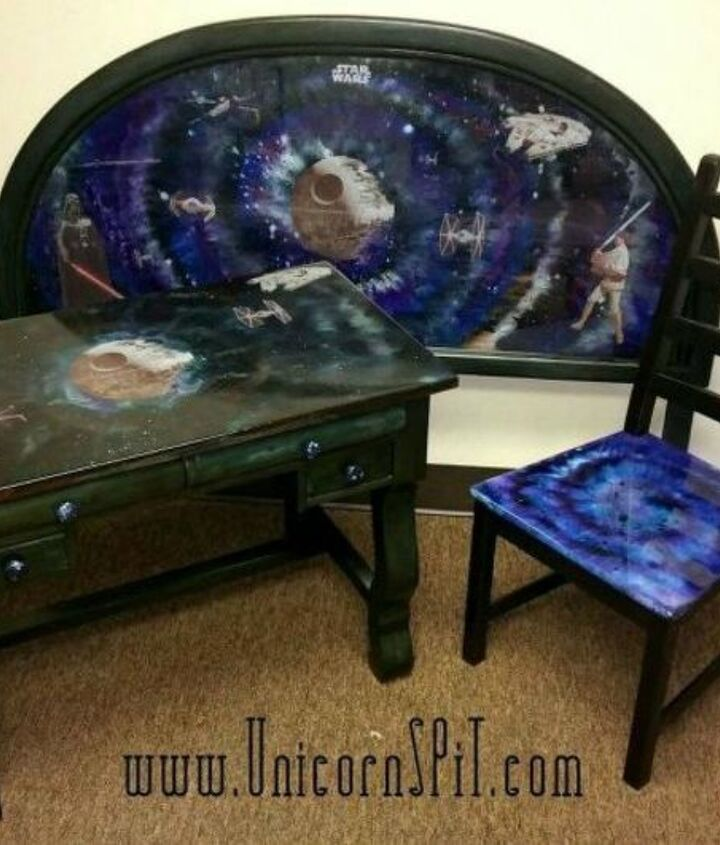 s 15 magical furniture flips using nothing but unicorn spit stain, painted furniture, Create space themed furniture