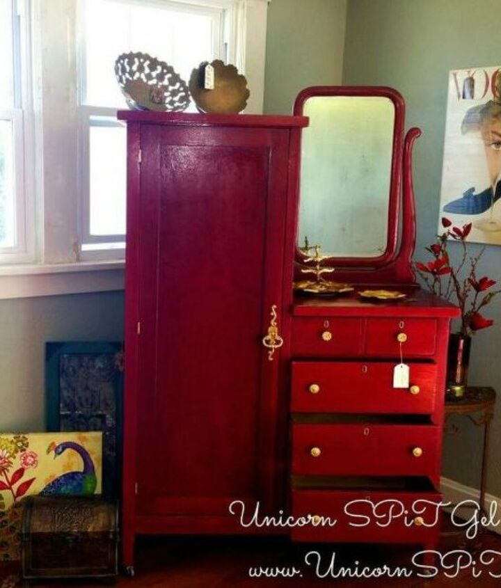 s 15 magical furniture flips using nothing but unicorn spit stain, painted furniture, Update an old antique chifferobe