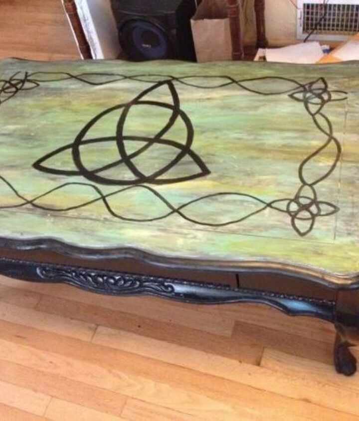 s 15 magical furniture flips using nothing but unicorn spit stain, painted furniture, Transform an old coffee table