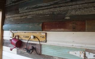 adding a junk wood wall to the she shed nailedit, repurposing upcycling, wall decor