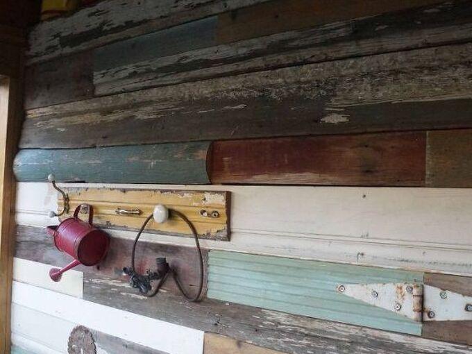 adding a junk wood wall to the she shed nailedit, repurposing upcycling, wall decor