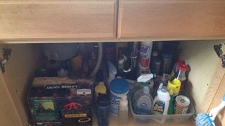 easiest under the sink organizer hack, how to, organizing, storage ideas