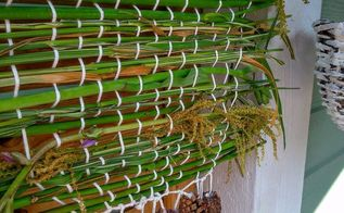 outdoor weaving, crafts, gardening, how to, window treatments