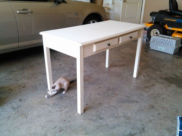 q help for repurposing a simple table in to a media center, repurpose furniture, repurposing upcycling, woodworking projects