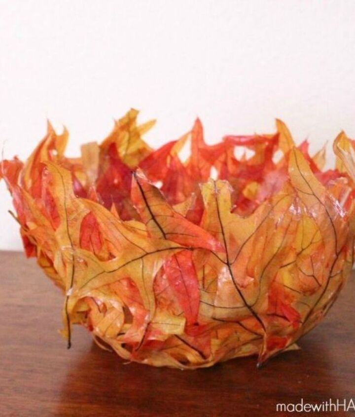s 11 ways to make expensive looking home decor with a bowl, home decor, Incorporate colors with a leaf bowl