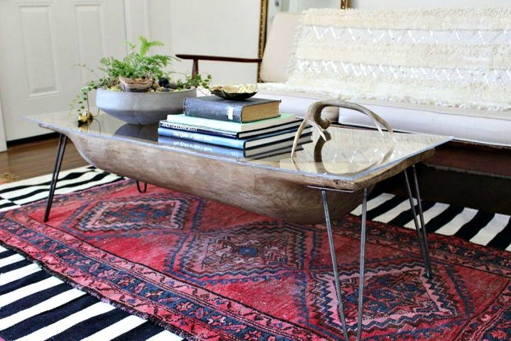 s 11 ways to make expensive looking home decor with a bowl, home decor, Turn a large bowl into an antique table