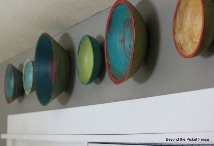 s 11 ways to make expensive looking home decor with a bowl, home decor, Hang them on the wall as decor