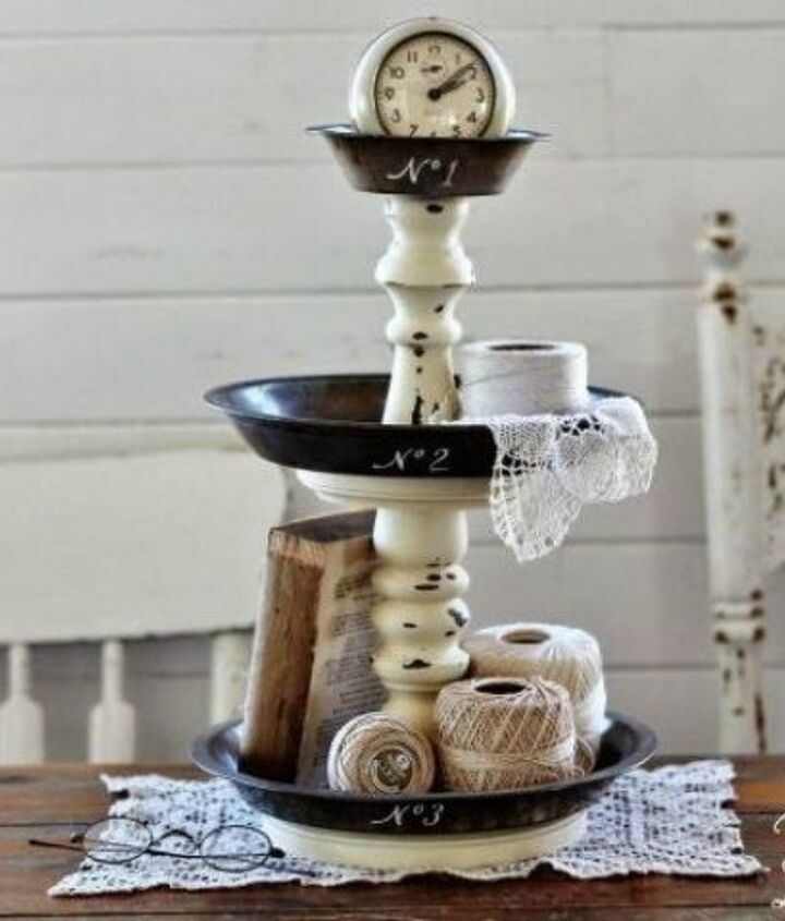 s 11 ways to make expensive looking home decor with a bowl, home decor, Stack them into a tiered stand