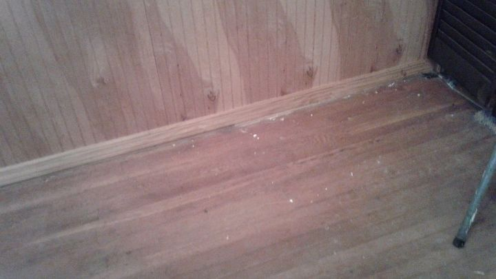 q i am at a complete loss as to what to do with this dining room help , dining room ideas, paint colors, painted furniture, painting, painting wood furniture, Hard wood floors in really bad shape
