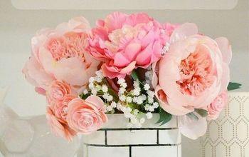 DIY Faux Brick Flower Vase