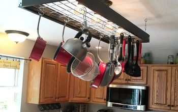 "Industrial Pot Rack - Creative ""Pan-handling"""