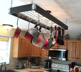 industrial pot rack creative pan handling  kitchen design organizing & Industrial Pot Rack - Creative