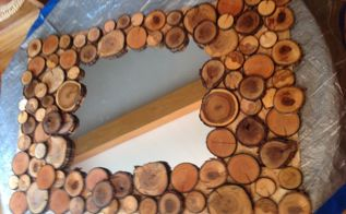 mirror mirror from my wood pile , crafts, home decor