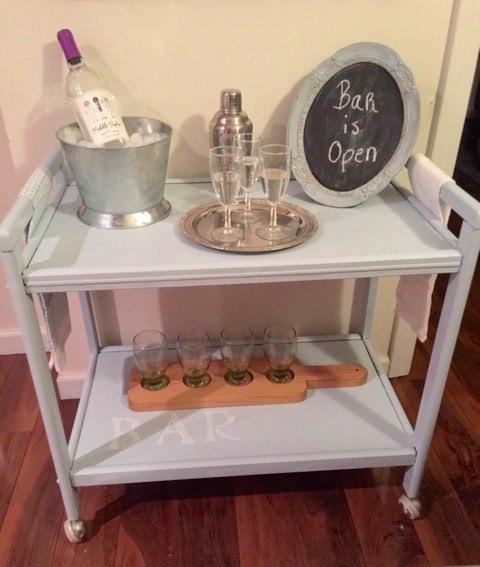 Diy Rolling Bar Cart Painted Furniture