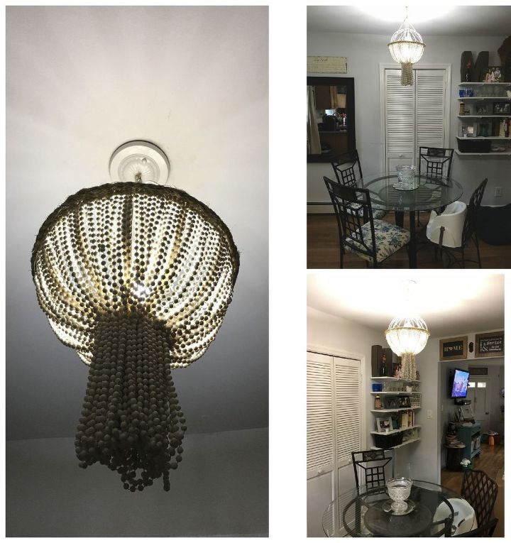 Planter And Mardi Gras Bead Chandelier How To Lighting