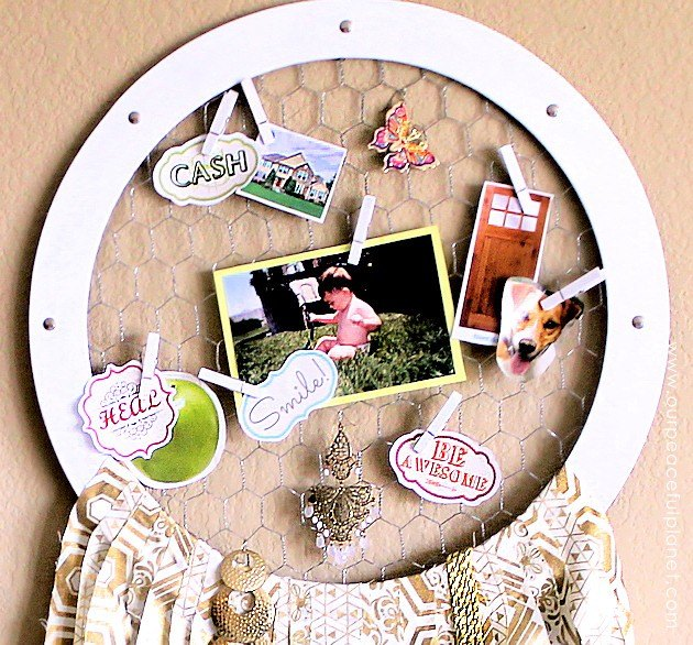inspirational dream catcher vision board combined , crafts, home decor, wreaths