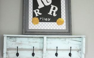 old dirty frame made fun family art, crafts, repurposing upcycling, wall decor
