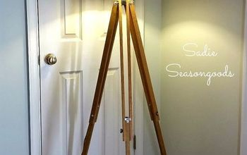 antique surveyor s tripod floor lamp, home decor, how to, lighting, repurposing upcycling